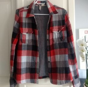 Element Checkered Plaid Flannel Top